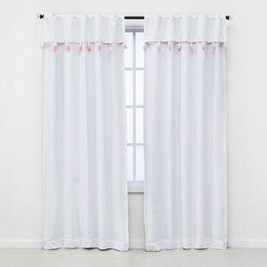 Pillowfort Ombre Tassel Blackout Curtain Panel Set